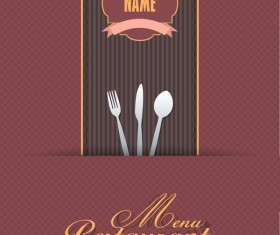 Commonly Restaurant menu cover template vector set 16
