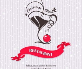 Commonly Restaurant menu cover template vector set 20