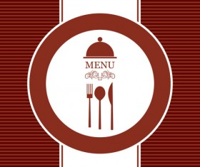 Commonly Restaurant menu cover template vector set 21