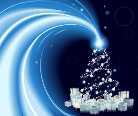2013 Christmas background with Gift Box design vector 01