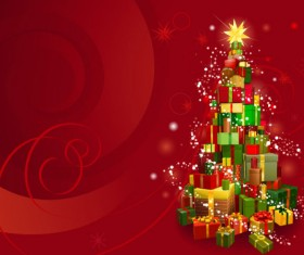 2013 Christmas background with Gift Box design vector 02