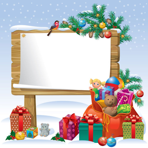 2013 christmas background with gift box design vector 03