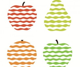 Fruit with Waves design vector