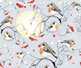 Cute hand drawn Birds vector graphic