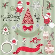 Link toCute cartoon christmas ornaments vector graphics 04