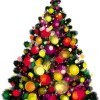Elements of Vivid Christmas tree with ornaments 04