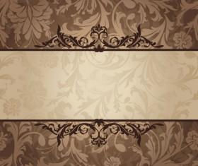 Vintage floral frame vector backgrounds set 01