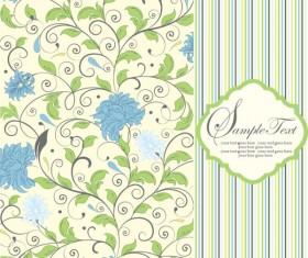 Vintage floral frame vector backgrounds set 02
