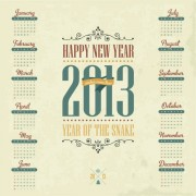 Link toVector of 2013 year calendar design elememnts 02