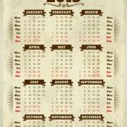 Link toVector of 2013 year calendar design elememnts 04