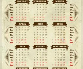 Vector of 2013 Year Calendar design elememnts 04