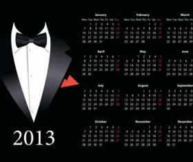 Vector of 2013 Year Calendar design elememnts 05