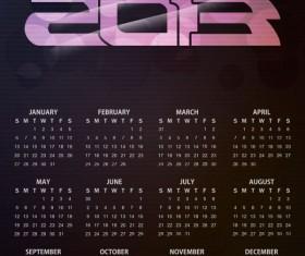 Vector of 2013 Year Calendar design elememnts 06
