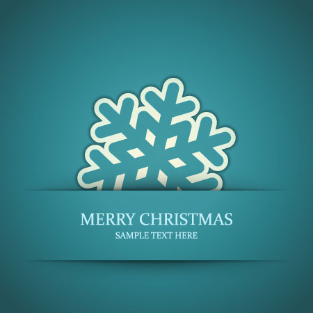 Set of Snowflake backgrounds for Christmas vector 06