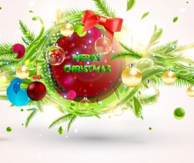 Set of Object Christmas backgrounds vector 03