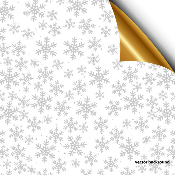 Shiny Snowflake backgrounds Illustration vector 01