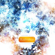 Link toShiny snowflake backgrounds illustration vector 03