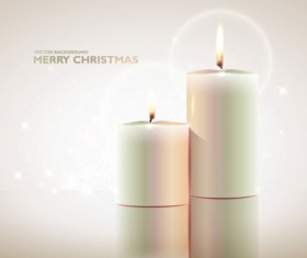 Set of Christmas candles design elements vector 03