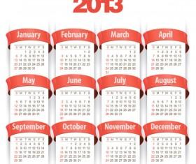 Creative 2013 calendar design art vector set 01