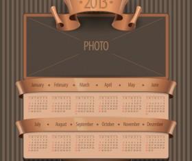 Creative 2013 calendar design art vector set 02