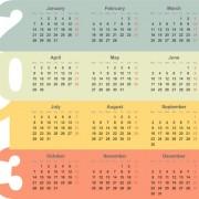 Link toCreative 2013 calendar design art vector set 03