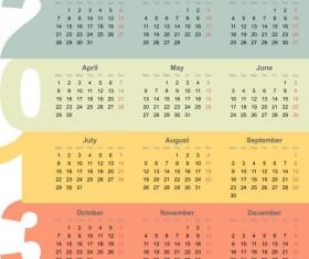 Creative 2013 calendar design art vector set 03