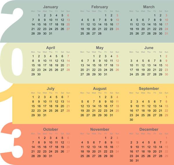 Calendar Drawing Design : Creative calendar design art vector set free download