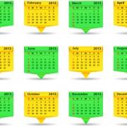 Link toCreative 2013 calendar design art vector set 04