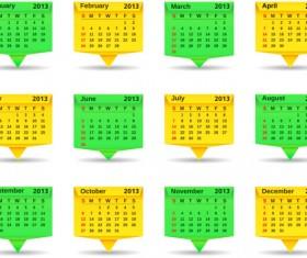 Creative 2013 calendar design art vector set 04