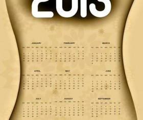 Creative 2013 calendar design art vector set 05