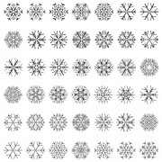 Link toDifferent snowflake patterns design elements vector 01