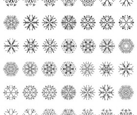 Different Snowflake patterns design elements vector 01