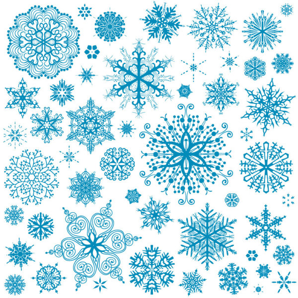 Free EPS file Different Snowflake patterns design elements vector 03 ...
