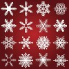 Different Snowflake patterns design elements vector 04