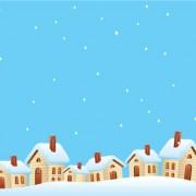 Link toCartoon house and snow design vector set 01