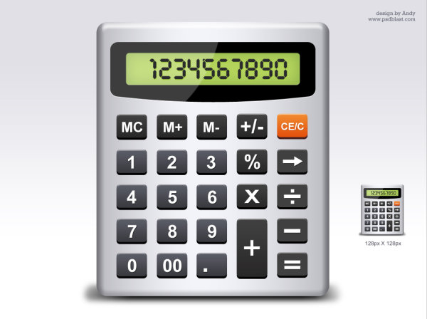 Calculator elements psd material