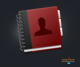 Address book design psd icon