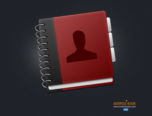 Address book design psd icon – Over millions vectors, stock photos ...