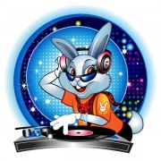 Link toCute cartoon dj rabbit vector