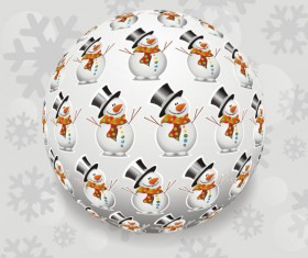 Christmas with Snowman elements vector