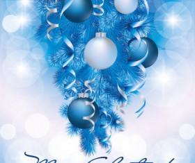 Blue Christmas decor design vector