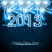 Link toBlue 2013 new year design vector graphic