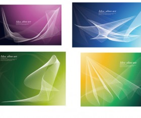 Set of smoke style cards vector 01