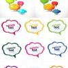 Cute cartoon Speech Bubbles mix vector