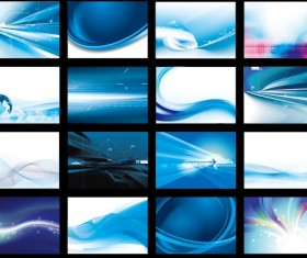 Blue Abstract cards art vector graphic 02