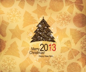 Creative 2013 Christmas design element with Snow background vector 02