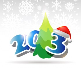 Creative 2013 Christmas design element with Snow background vector 03