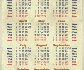 2013 Creative Calendar Collection design vector material 01