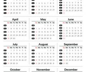 2013 Creative Calendar Collection design vector material 02