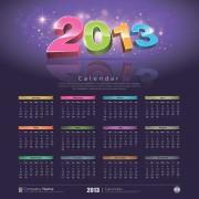 Link to2013 creative calendar collection design vector material 03